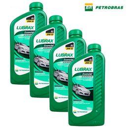 Kit-4-Oleos-Para-Motor-Lubrax-Essencial-Alta-Rodagem-25W50-SL