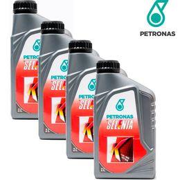 Kit-4-Oleos-Para-Motor-Petronas-15W40-Selenia-K-Semi-Sintetico