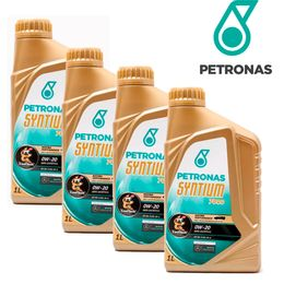 Kit-4-Oleos-Para-Motor-Petronas-0W20-Syntium-7000-Sintetico