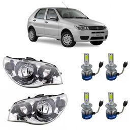 Par-Farol-Original-Fiat-Palio-Strada-e-Siena-2004-a-2008-Mais-Par-Kit-Lampadas-Super-Led-H4-36W-3800-Lumens