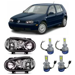 Par-Farol-Original-Vw-Golf-Sapao-Negro-1999-a-2002-Sem-milha-Mais-Lampadas-Super-Led