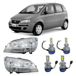 Par-Farol-Original-Fiat-Idea-2005-a-2010-Mais-Lampadas-Super-Led