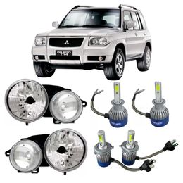Par-Farol-Original-Mitsubishi-Pajero-Tr4-2006-a-2010-Mais-Lampadas-Super-Led