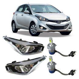 Par-Farol-Original-Hyundai-Hb20-2012-a-2015-Mascara-Negra-Mais-Lampadas-Super-Led