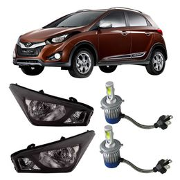 Par-Farol-Original-Hyundai-Hb20x-2012-a-2014-Negro-Mais-Lampadas-Super-Led