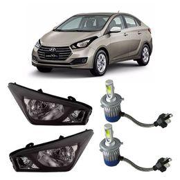 Par-Farol-Original-Hyundai-Hb20s-2012-a-2014-Negro-Mais-Lampadas-Super-Led