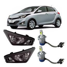 Par-Farol-Original-Hyundai-Hb20-2012-a-2014-Negro-Mais-Lampadas-Super-Led