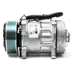 Compressor-Sanden-Universal-7H15-8Pk-8-Orelhas-12Volts-Flex-com-2-Furos-Tampa-Traseira-Para-Tras