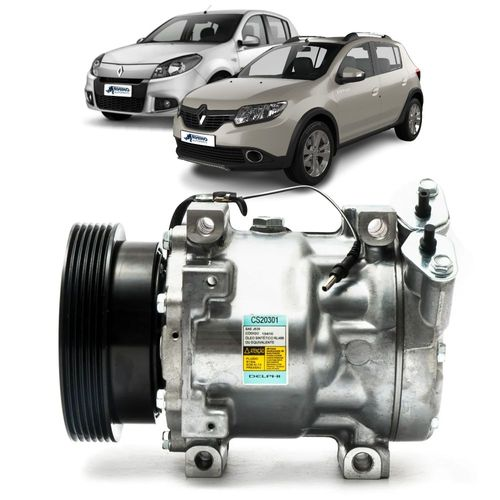 Compressor-Delphi-Renault-Sandero-1.6-16V-2007-a-2014-Flex-a-Sandero-1.0-16V-2014-Flex