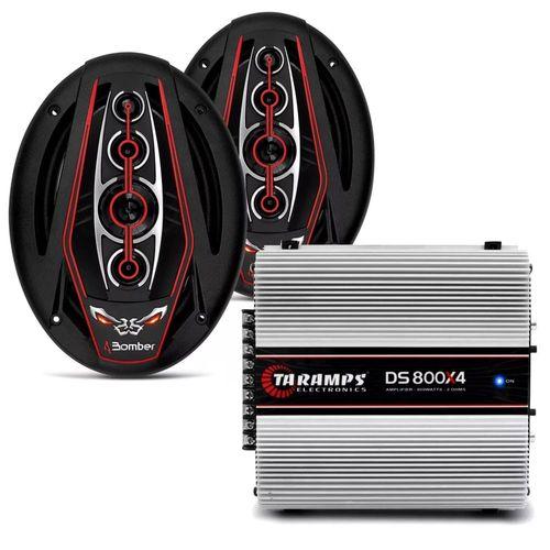 Kit-Amplificador-DS-800X4---Par-de-Alto-Falante-Bomber-6x9-Bicho-Papao