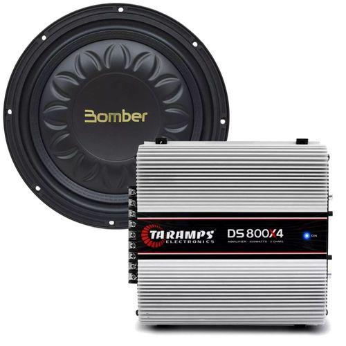 Kit-Amplificador-DS-800X4---Subwoofer-Bomber-Slim-High-Power