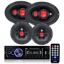 Kit-Radio-MP3-Com-Bluetooth---4-Alto-Falante-Bomber-6-E-6x9-Polegadas