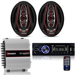 Kit-Radio-MP3-Com-Bluetooth---Par-De-Alto-Falante-Bicho-Papao---Amplificador-TS-400x4