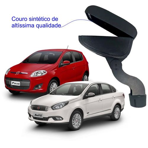 Apoio-De-Braco-Fiat-Nova-Palio-e-Grand-Siena-Com-Couro-Sintetico-Preto-e-Com-Linha-Preta