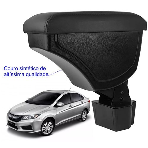 Apoio-De-Braco-Honda-City-Com-Couro-Sintetico-Preto-e-Com-Linha-Preta