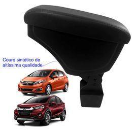 Apoio-De-Braco-Honda-Fit-e-Wrv-Com-Couro-Sintetico-Preto-e-Com-Linha-Preta
