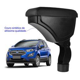 Apoio-De-Braco-Nova-Ecosport-Com-Couro-Sintetico-Preto-e-Com-Linha-Preta