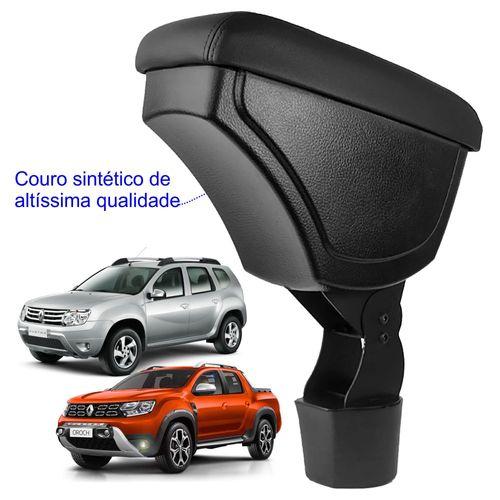 Apoio-De-Braco-Renault-Duster-e-Oroch-Encaixe-Porta-Copo-Com-Couro-Sintetico-Preto-e-Com-Linha-Preta