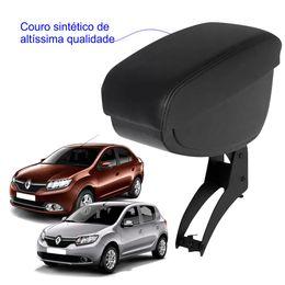 Apoio-De-Braco-Renault-Logan-e-Sandero-Com-Couro-Sintetico-Preto-e-Com-Linha-Preta