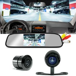 Kit-Retrovisor-Tech-One-com-tela-embutida-com-entrada-de-Video---Camera-de-Re