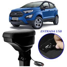 Apoio-De-Braco-Nova-Ecosport-Com-USB-Couro-Sintetico-Preto-e-Com-Linha-Preta