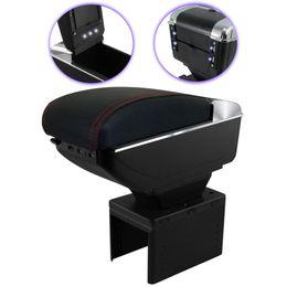 Console-Apoio-de-Braco-Universal-Preto-com-Vermelha-USB-Led