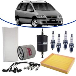 kit-revisao-gm-zafira-2-0-8v-gasolina-2002-a-2006-filtro-de-oleo-ar-combustivel-cabine-vela-cabo