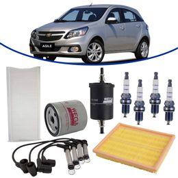 kit-revisao-gm-agile-1-4-8v-2009-a-2014-filtro-de-oleo-ar-combustivel-cabine-vela-cabo