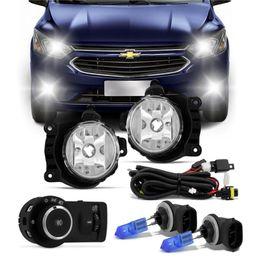 Kit-Farol-Auxiliar-Shocklight-Par-de-Lampada-Tech-One-Super-Branca-881-h27-GM-Cobalt-Onix-Prisma-2012-em-diante