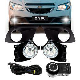 Kit-Farol-Auxiliar---Grade-Pretas-Shocklight-Onix-LT-LS-2014