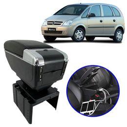 Console-Apoio-de-Braco-GM-Meriva-Todos-os-Modelos-Preto-com-USB