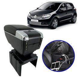 Console-Apoio-de-Braco-Renault-Sandero-2013-em-Diante-Preto-com-USB