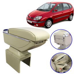 Console-Apoio-de-Braco-Renault-Senic-2000-a-2002-Bege-USB-Led