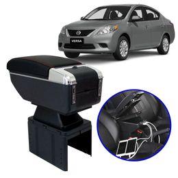 Console-Apoio-de-Braco-Nissan-Versa-Todos-os-Modelos-Preto-com-Vermelha-USB
