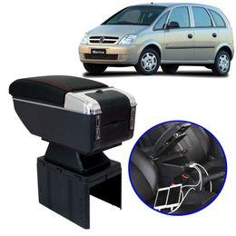 Console-Apoio-de-Braco-GM-Meriva-Todos-os-Modelos-Preto-com-Vermelha-USB