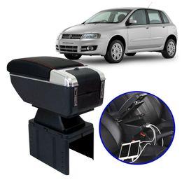 Console-Apoio-de-Braco-Fiat-Stilo-Todos-os-Modelos-Preto-com-Vermelha-USB
