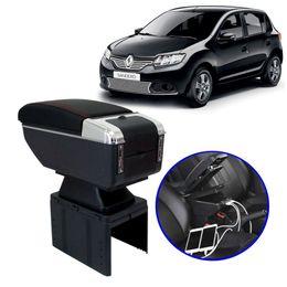 Console-Apoio-de-Braco-Renault-Sandero-2013-em-Diante-Preto-com-Vermelha-USB